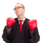 Judge with boxing gloves